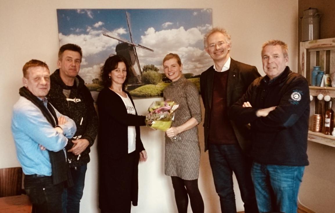 Participatiepenning: Jan Koekkoek, Nico Vink, Truus Schmidt, Paula Jorritsma, Maarten de Winter, Zegert van der Stelt.