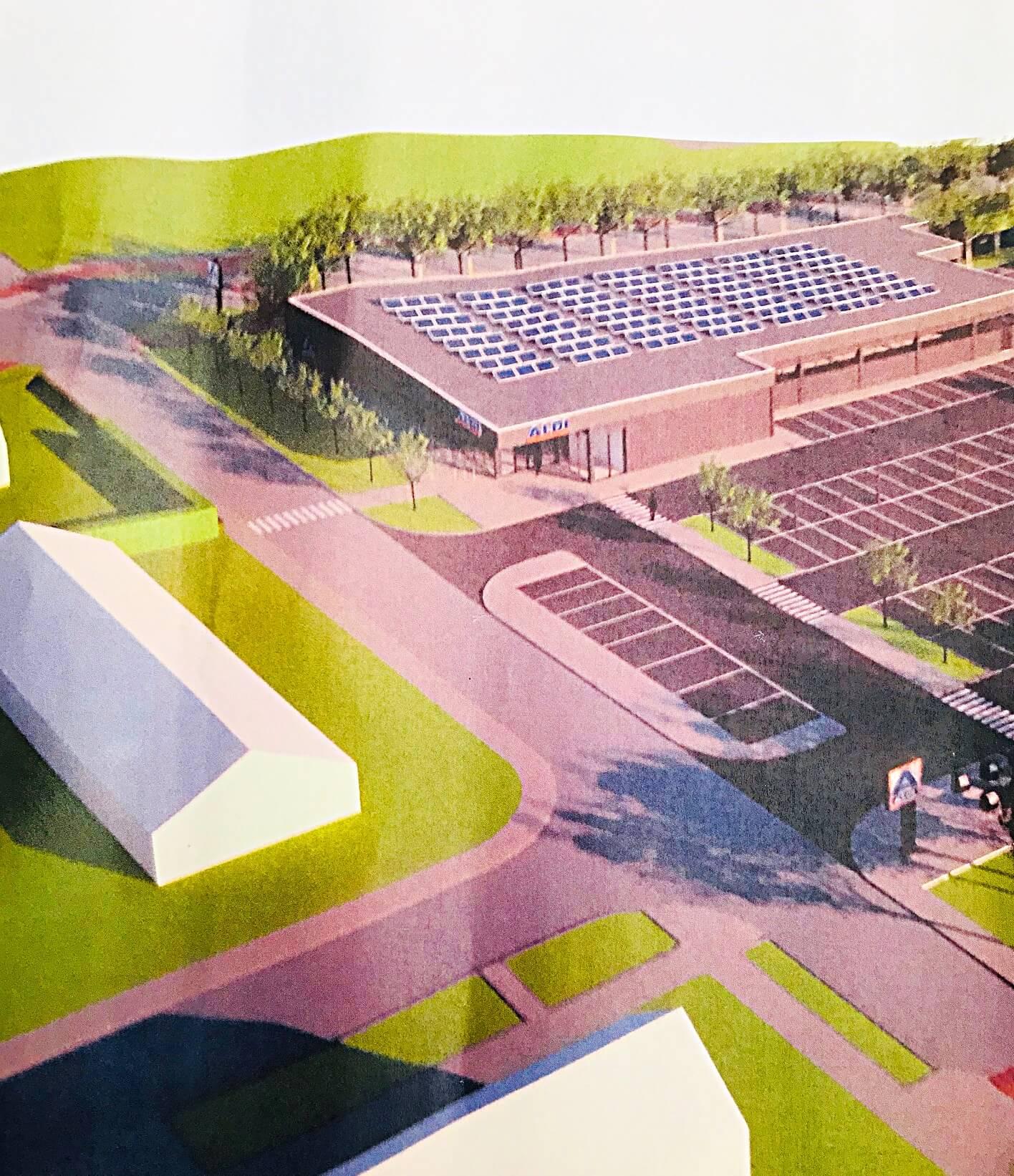 Ontwerp Aldi aan Werkina Werkendam