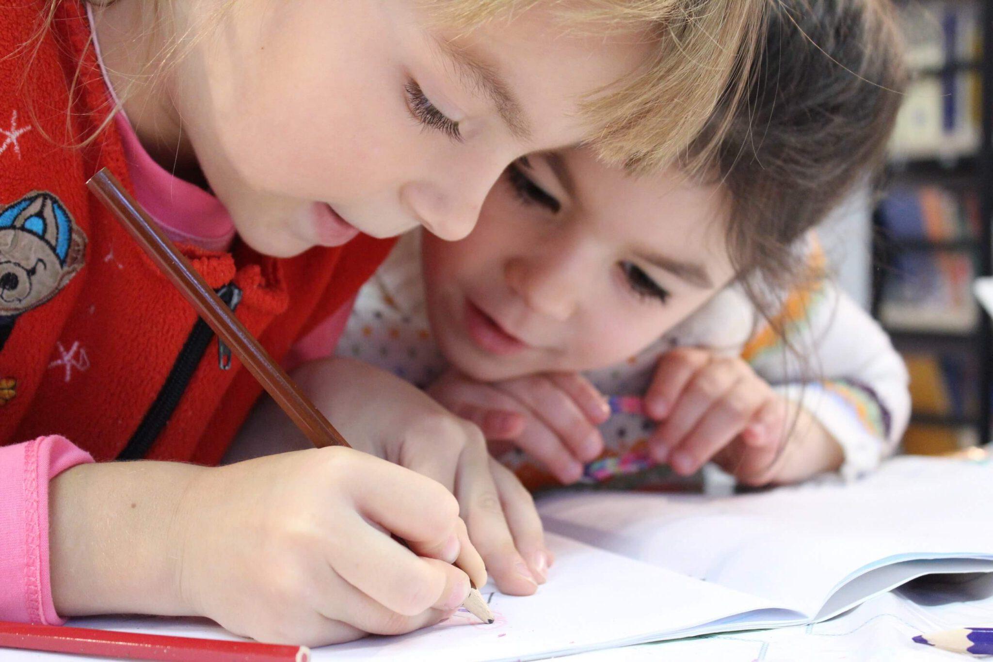 Foto kinderen op school