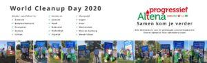 Banner World Cleanup Day 2020 met alle locaties van PA