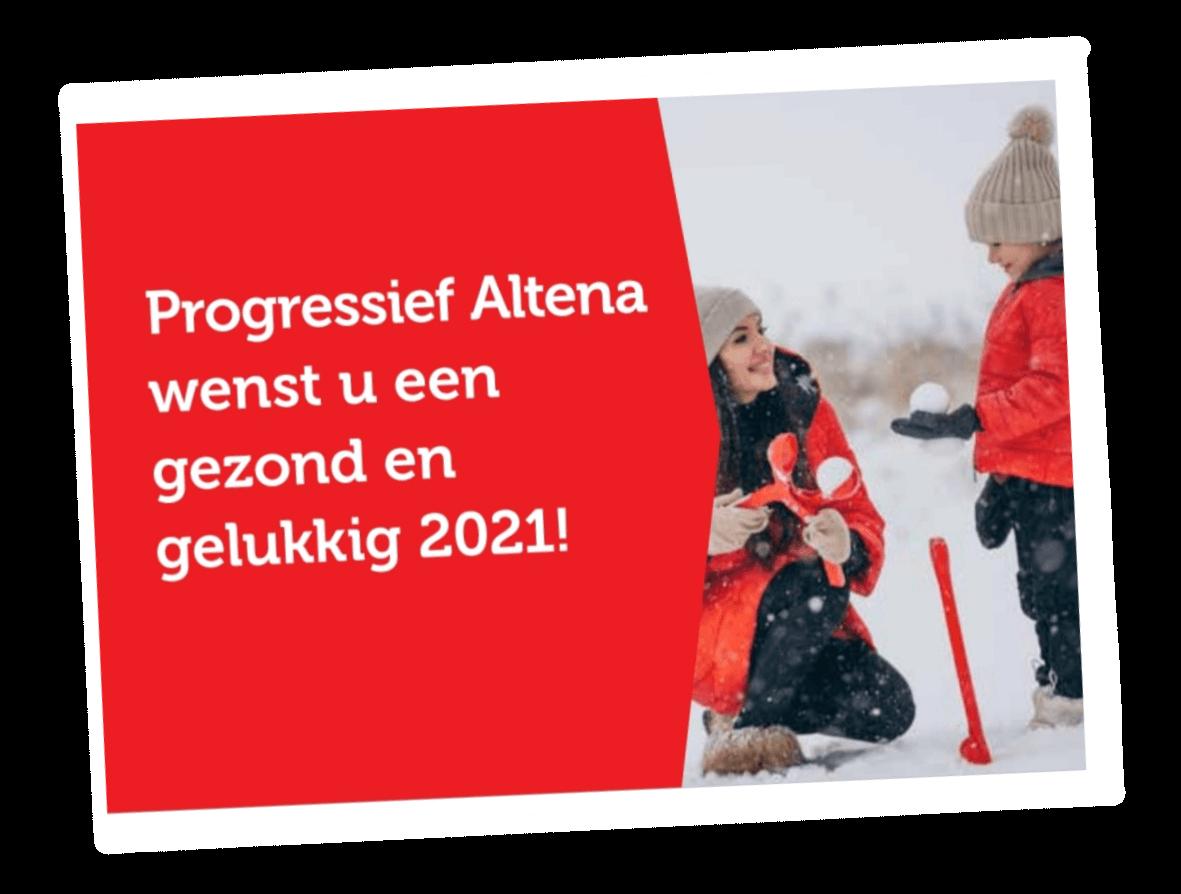 Kaart van Progressief Altena aan alle leden.