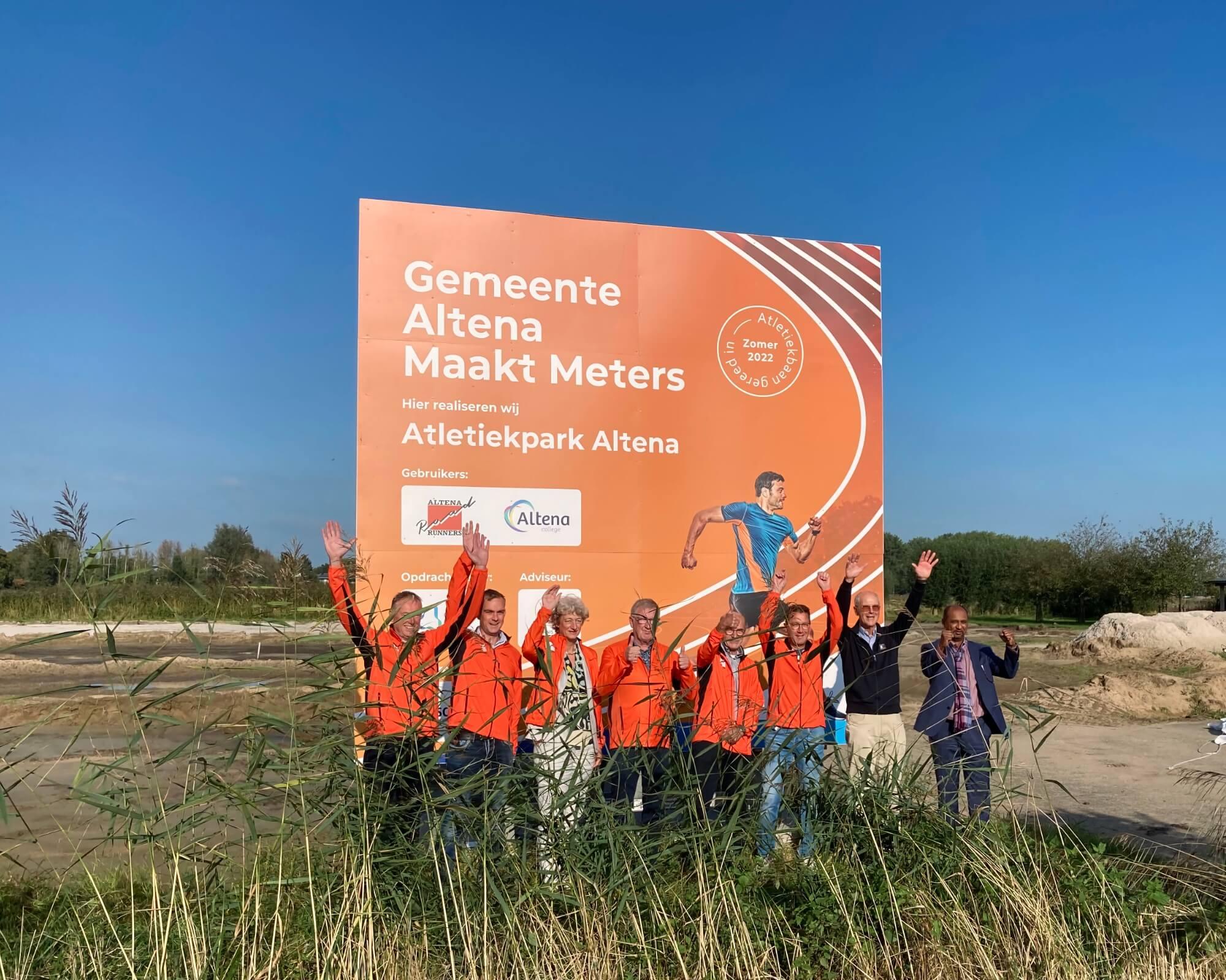 Onthulling bord Atletiekpark Altena 2
