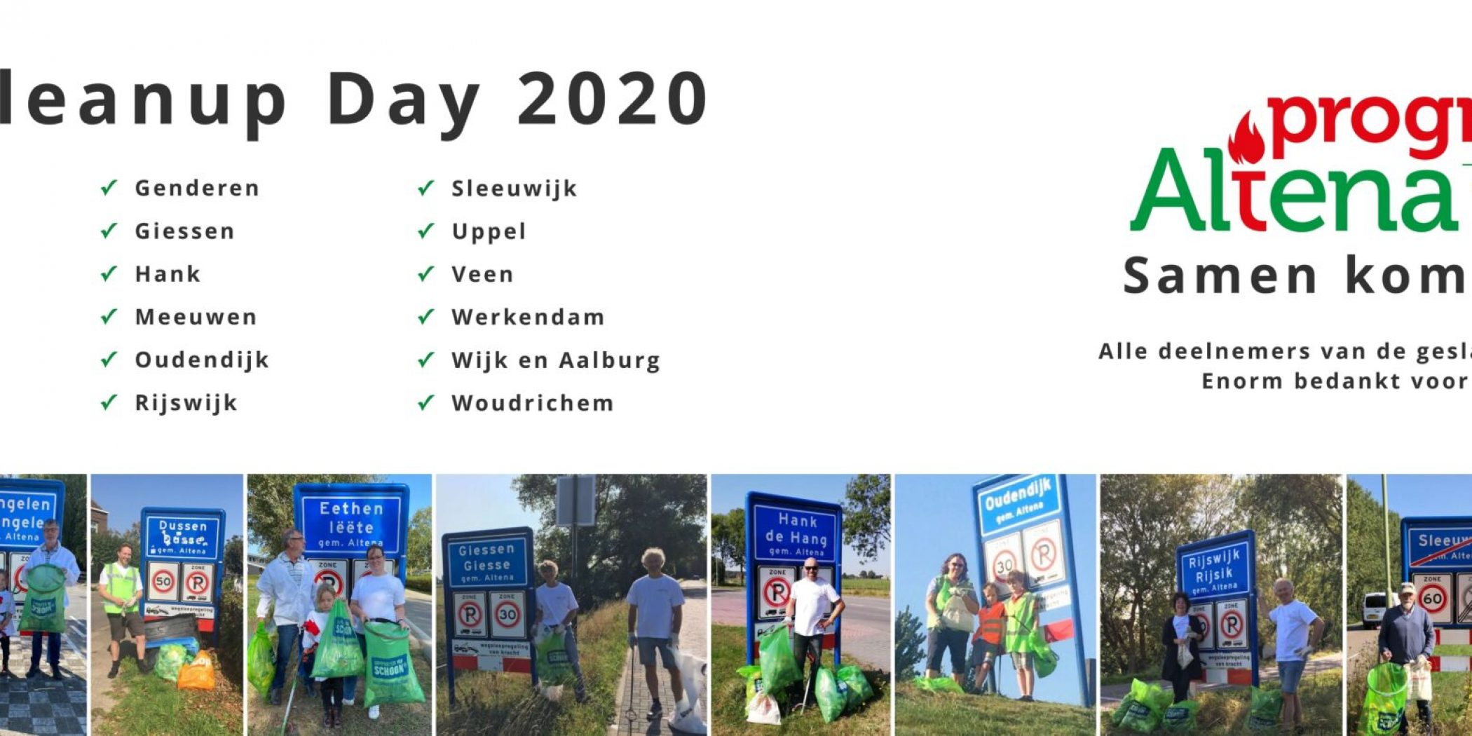 Banner World Cleanup Day 2020 met alle locaties van PA